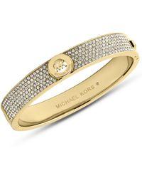 Michael Kors Fulton Gold-tone and Glitz Bangle Bracelet - Lyst