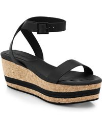 See By Chloé Leather  Cork Platform Sandals - Lyst