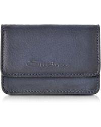 Santoni - Suede Credit Card Holder - Lyst