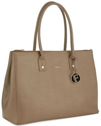 Furla Linda Crosshatched Leather Tote - Lyst