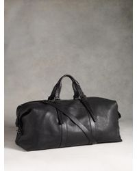 John Varvatos - Leather Braided Duffle - Lyst