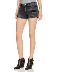 Mcguire - Pompom Denim Shorts In Shalom - Lyst