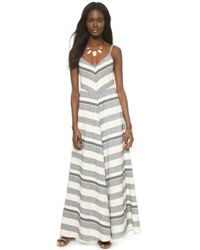 Twelfth Street Cynthia Vincent Mitered Maxi Dress - Tan - Lyst
