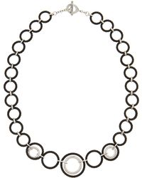 Charriol Cable-link Diamond-inset Toggle Necklace - Lyst