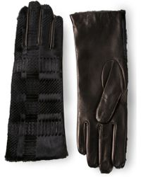 Vivienne Westwood Black Patterned Gloves - Lyst