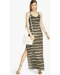 Halston Printed Maxi Dress - Lyst