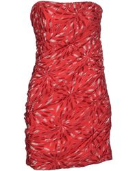 Jay Ahr Short Dress - Lyst
