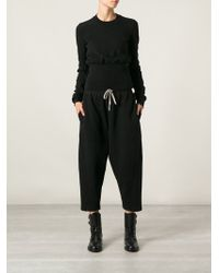 DRKSHDW by Rick Owens Cropped Track Pants - Lyst