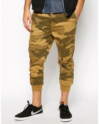Asos Heavyweight Cropped Sweatpants in Camo - Lyst