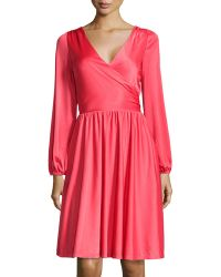 Halston Heritage Crossover Stretch Knit Dress - Lyst