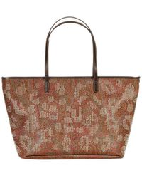 Etro Arnica Shopping Pelle Stampa Paisley Borchie - Lyst