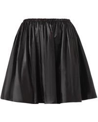 Christopher Kane Ruched Nylon Skirt - Lyst