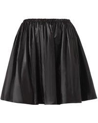 Christopher Kane Ruched Nylon Skirt - Lyst