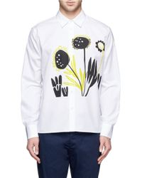 Marni Flower Painting Cotton Shirt - Lyst