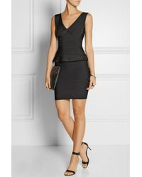 Hervé Léger Rebeca Bandage Peplum Mini Dress - Lyst