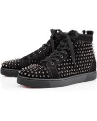 Christian Louboutin Louis Spikes Mens Flat - Lyst
