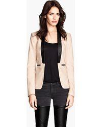 H&M Figure-Fit Jacket pink - Lyst
