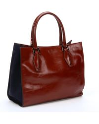 Tod's Red Leather 'D-Cube' Shopper Tote - Lyst