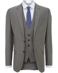 Hugo Boss Huge Genius Slim Fit Three Piece Solid Suit - Lyst