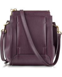 Sonia Rykiel Edgar Aubergine Small Leather Crossbody Bag - Lyst