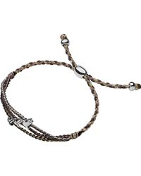 Links of London - Feed Grey Triple Dove Bracelet - Lyst