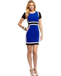 Debbie Shuchat - Colorblock Body-con Dress - Lyst