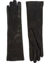 Barneys New York Cashmere-Lined Long Gloves black - Lyst