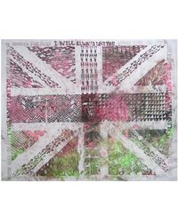 Simeon Farrar - Silk Scarf With Anniversary Union Jack Illustration - Lyst