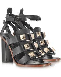 Proenza Schouler Black Studded Gladiator Sandal - Lyst