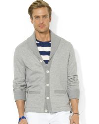 Ralph Lauren Polo Terry Shawl Cardigan - Lyst
