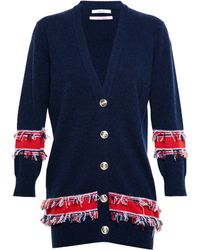 Barrie Fringed Cashmere Cardigan - Lyst