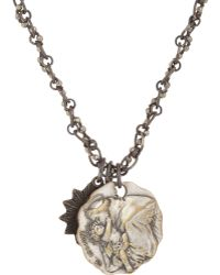 Miracle Icons - Faceted Pyrite Bead Triple-charm Necklace - Lyst
