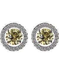 Carat* - Round 0.5ct Yellow Borderset Stud Earrings - Lyst