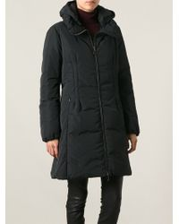 Moncler Black Padded Coat - Lyst