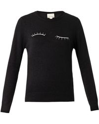 Band Of Outsiders Eyelashembroidered Wool Sweater - Lyst