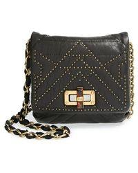 Lanvin 'Happy - Mini Pop' Studded Lambskin Leather Crossbody Bag - Lyst