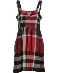 Burberry Brit Short Dress - Lyst