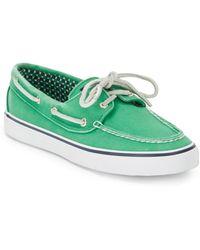 Sperry Bahama 2eye Canvas Boat Shoesgreen - Lyst