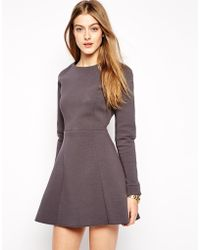 2nd Day Structured Skater Dress - Lyst