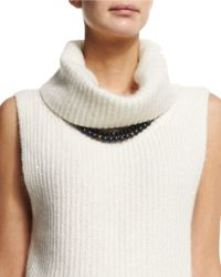 Peserico - Wooden Beaded Necklace - Lyst