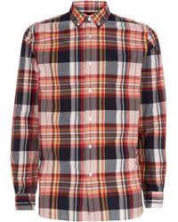 Lacoste Plaid Button-down Shirt - Lyst