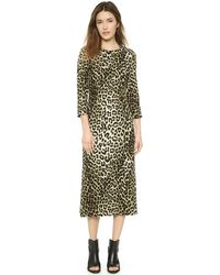 Rag & Bone Leopard Midi Dress - Leopard - Lyst