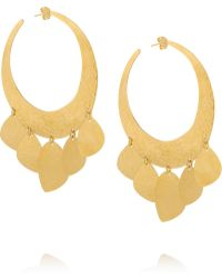 Herve Van Der Straeten - Hammered 24-karat Goldplated Earrings - Lyst