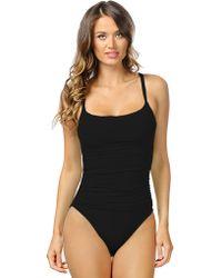 La Blanca Core Solid One Piece Swimsuit - Lyst