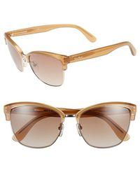 Max Mara Women'S 'Cmaster' 57Mm Retro Sunglasses - Gold/ Honey - Lyst