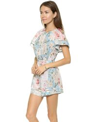 Zimmermann Georgia Flutter Playsuit Splice - Lyst