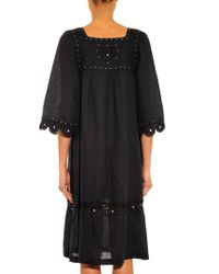 Easton Pearson Take Away - Arak Embroidered Linen Dress - Lyst