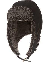 Paul Leinburd By Crown Cap Shearling-lined Aviator Hat - Lyst