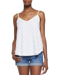 Ella Moss Sabine Sleeveless Dot Top - Lyst