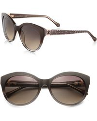 Roberto Cavalli Albaldah Rounded Cat'S-Eye Sunglasses - Lyst